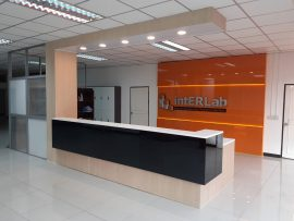 intERLab Counter & Wall Backdrop