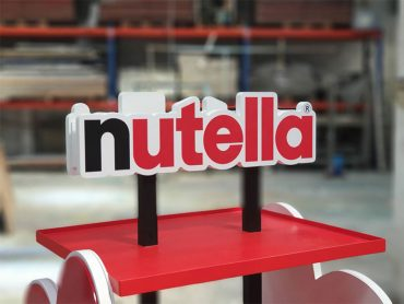 Nutella tower for Changi Airport